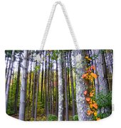 Fall Ivy In Pine Tree Forest Weekender Tote Bag