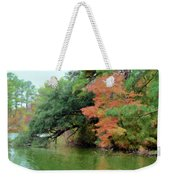 Fall Landscape Around The Lake 5 Weekender Tote Bag