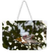 Fall Leaf In Stream Weekender Tote Bag