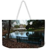 Fall Leaves Carpet And Metal Sofa Weekender Tote Bag