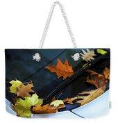 Fall Leaves On A Car Weekender Tote Bag