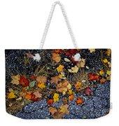 Fall Leaves On Pavement Weekender Tote Bag by Elena Elisseeva