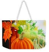 Fall Leaves Pumpkin Gourd Weekender Tote Bag