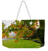 Fall Maple Tree In Foggy Park Weekender Tote Bag by Elena Elisseeva