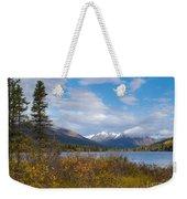 Fall Mountain Landscape Of Lapie Lake Yukon Canada Weekender Tote Bag