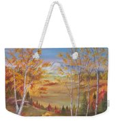 Fall Mountain Path Weekender Tote Bag