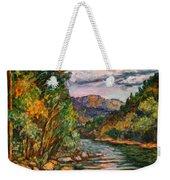 Fall New River Scene Weekender Tote Bag