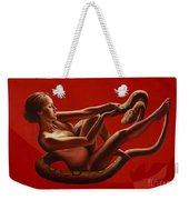 Fall Of The Eden  Or Resistance Of Eve To The Serpent Weekender Tote Bag