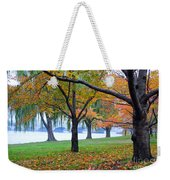fall on the Potomac River Weekender Tote Bag
