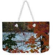Fall On The Shetucket Weekender Tote Bag