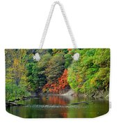 Fall Painting Weekender Tote Bag by Frozen in Time Fine Art Photography