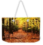 Fall Path Weekender Tote Bag