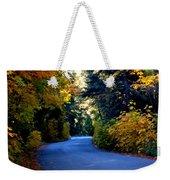 Fall Path Weekender Tote Bag