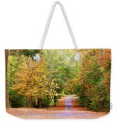 Fall Pathway Weekender Tote Bag by Judy Vincent