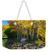 Fall Pond In Mammoth Weekender Tote Bag