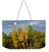 Fall Pond Reflection Weekender Tote Bag