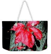 Fall Red Leaf Weekender Tote Bag