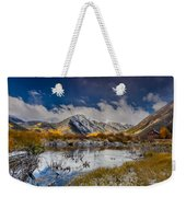 Fall Reflection Pond Weekender Tote Bag
