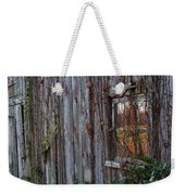 Fall Reflections On Weathered Glass Weekender Tote Bag