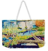 Fall River Scene Weekender Tote Bag