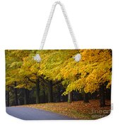Fall Road And Trees Weekender Tote Bag