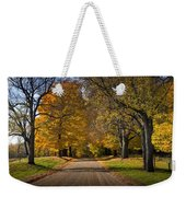 Fall Rural Country Gravel Road Weekender Tote Bag