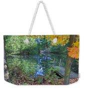 Fall Scene By Pond Weekender Tote Bag