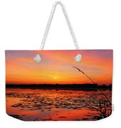 Fall Sunset In The Mead Wildlife Area Weekender Tote Bag