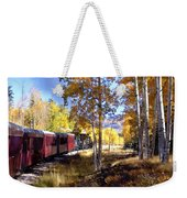Fall Train Ride New Mexico Weekender Tote Bag