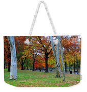 Fall Walk Weekender Tote Bag