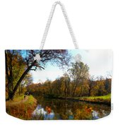 Fall Water Reflections Weekender Tote Bag