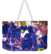 Fall Wine Grapes Weekender Tote Bag
