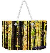 Fall Woods In Michigan Weekender Tote Bag