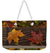 Fallen As If Placed Weekender Tote Bag
