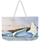 Fallen Clouds Icebergs In Saint Anthony Bay-newfoundland-canada  Weekender Tote Bag