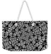 Fallen Leaves Black And White Kaleidoscope Weekender Tote Bag
