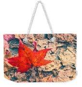 Fallen Red Leaf Weekender Tote Bag