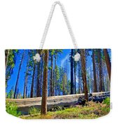 Fallen Sequoia In Mariposa Grove In Yosemite National Park-california Weekender Tote Bag