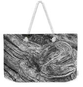 Fallen Tree Bark Bw Weekender Tote Bag