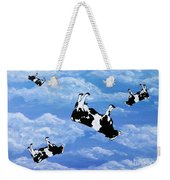 Falling Cows Weekender Tote Bag