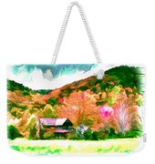 Falling Farm Blended Art Styles Weekender Tote Bag