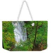 Falling Foss Waterfall In North York Moors National Park Weekender Tote Bag