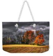 Falling Into Winter Weekender Tote Bag
