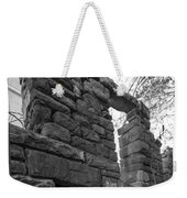 Falling Wall Jerome Black And White Weekender Tote Bag