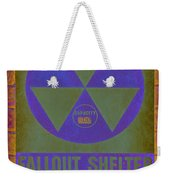 Fallout Shelter Abstract Weekender Tote Bag