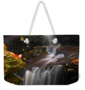 Falls And Fall Leaves Weekender Tote Bag