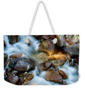 Falls And Rocks Weekender Tote Bag