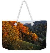 Fall's Mountainside Cascade Weekender Tote Bag