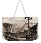Falls Of The Yosemite Painting Weekender Tote Bag