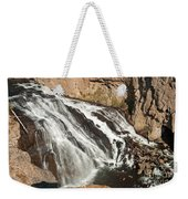 Falls On The Gibbon River In Yellowstone National Park Weekender Tote Bag